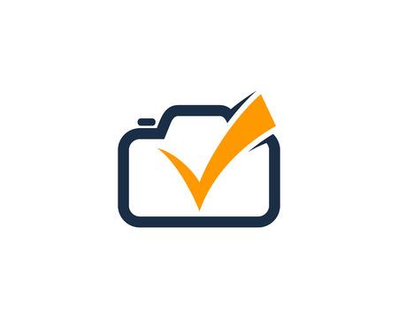 Check Camera Logo Icon Design Illustration