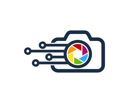 Digital Camera Logo Icon Design