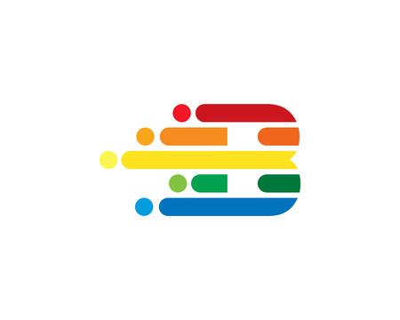 B Colorful Letter Logo Icon Design