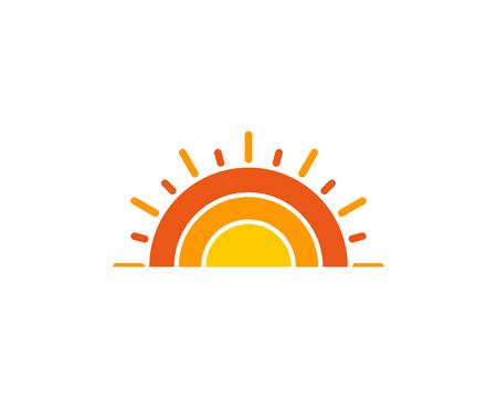 태양 아이콘 로고 디자인 요소