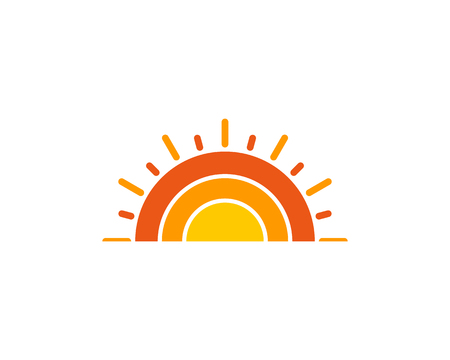 Sun Icon Logo Design Element