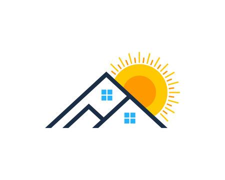 태양 아이콘 디자인 요소