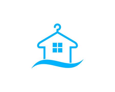 Wasserij Icon Logo Design Element Stock Illustratie