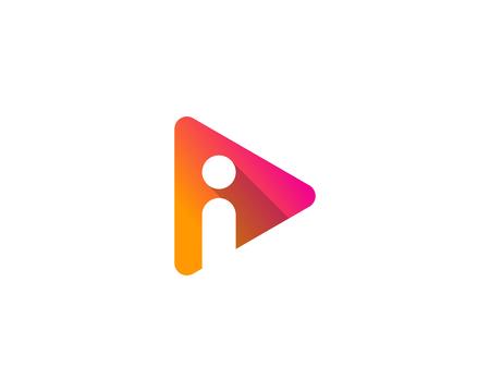Letter I Icon Logo Design Element Illustration