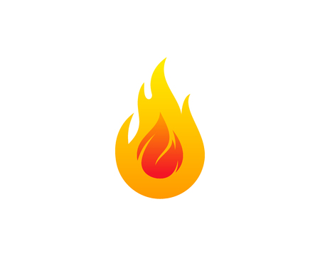 Fire Flame Icon Logo Design Element 向量圖像