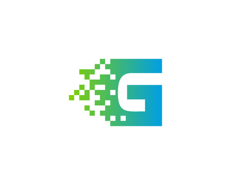 Letter G Digital Pixel Icon Logo Design Element Illusztráció