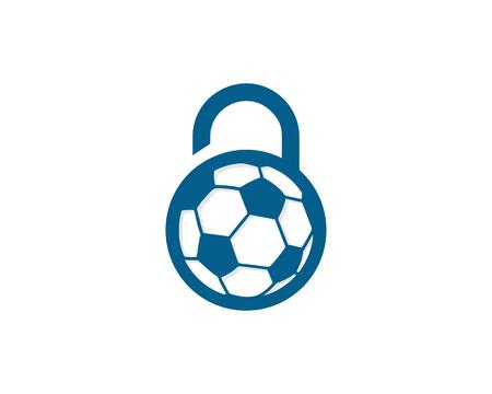 Security Lock Icon Logo Design Element