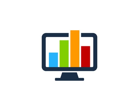 Report Computer Icon Logo Design Element Illustration