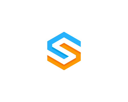 Letter S Icon Logo Design Element