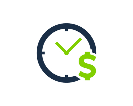 Time Icon Logo Design Element