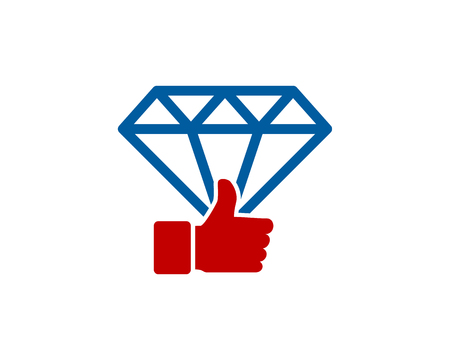 Diamond Icon Logo Design Element Фото со стока - 80612250
