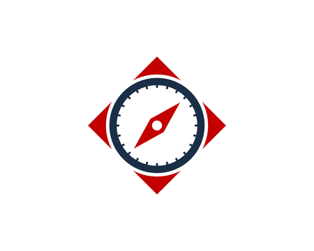Square Compass Icon Logo Design Element