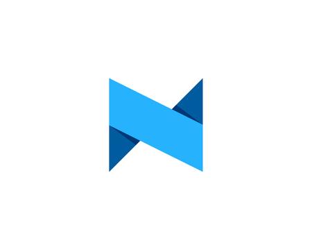 lettre n icône élément de conception de logo