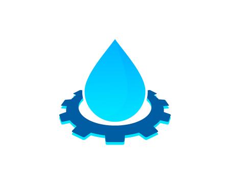 Elemento de diseño de icono de agua Foto de archivo - 80819151