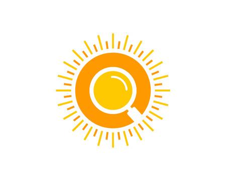 Sun Icon   Design Element Illustration