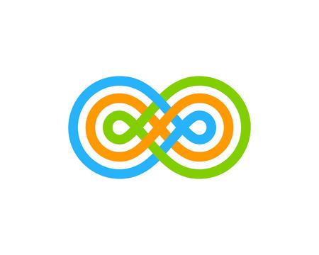 無限大のアイコン ロゴのデザイン要素  イラスト・ベクター素材