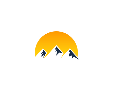 Mountain Icon Design Element