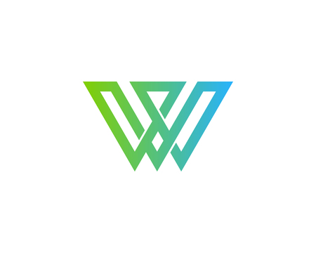 Letter W Icon Logo Design Element