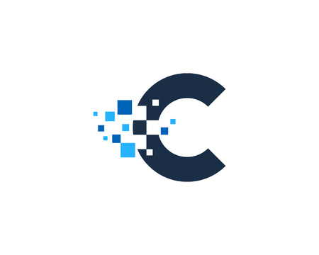Letter C Icon Design Element 일러스트