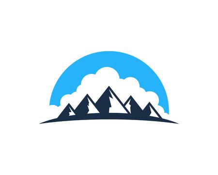 Mountain Icon Design Element