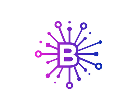 Share Letter B Icon Logo Design Element