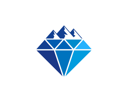 Diamond Icon Logo Design Element 向量圖像