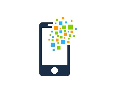 Mobile Phone Icon Logo Design Element