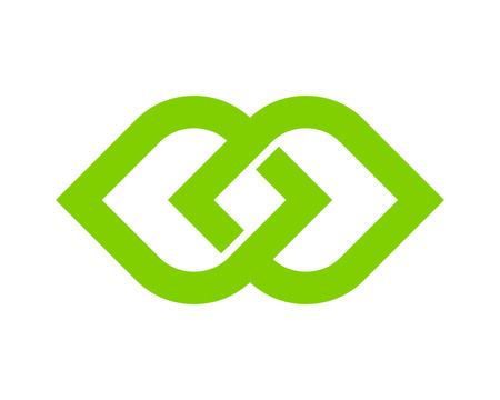 Infinity Icon Logo Design Element Stock Vector - 80611468