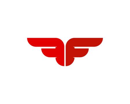 Letter F Icon Logo Design Element