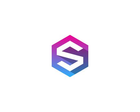 S の文字アイコン ロゴのデザイン要素
