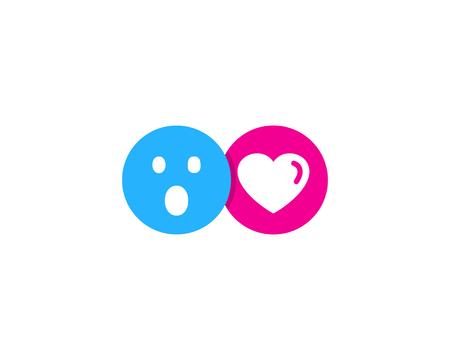 Élément de conception de logo d'icône de réseau social Logo