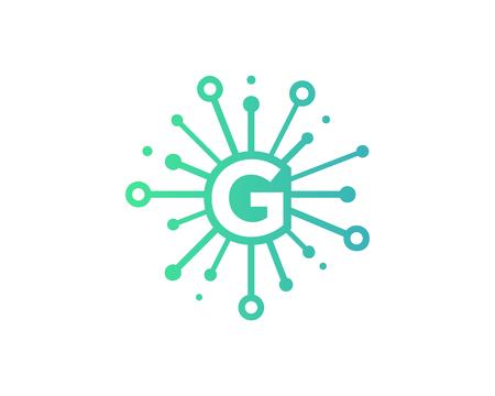Share Letter G Icon Logo Design Element Illusztráció