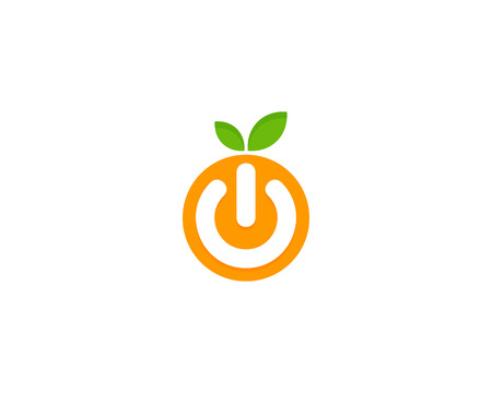 Fruit Icon Logo Design Element Illustration