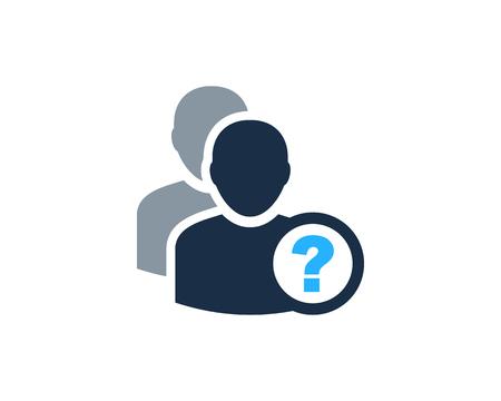 User Icon Logo Design Element