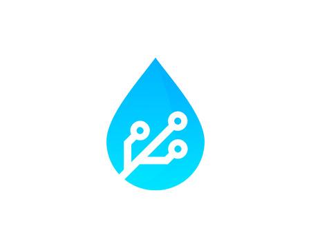 水アイコン ロゴのデザイン要素  イラスト・ベクター素材