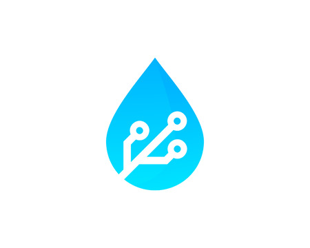 Water Icon Logo Design Element Çizim