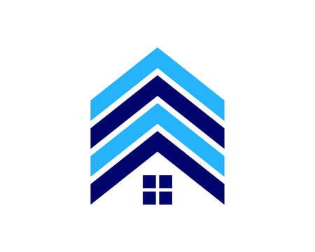 Immobilien-Ikone Logo Design Element Standard-Bild - 80863125