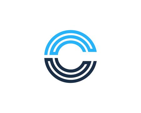 Letter C Icon Logo Design Element