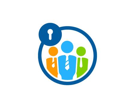 Security Icon Logo Design Element