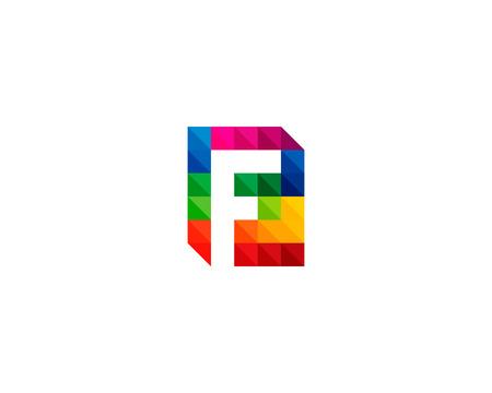 Letter F Icon Logo Design Element Stock Vector - 80692530