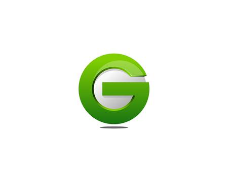 문자 G 아이콘 로고 디자인 요소 일러스트