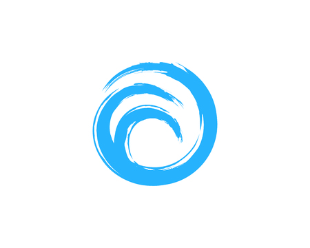 Wave Icon Logo Design Element