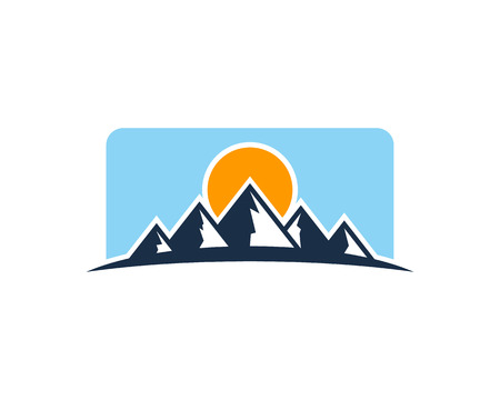 tibet: Mountain Icon Design Element