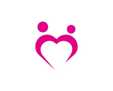 Love Icon Logo Design Element Фото со стока - 80806179