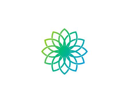 Elemento de diseño del logotipo de Wellness Icon Foto de archivo - 80806032