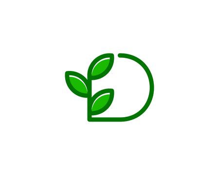 문자 D 아이콘 로고 디자인 요소