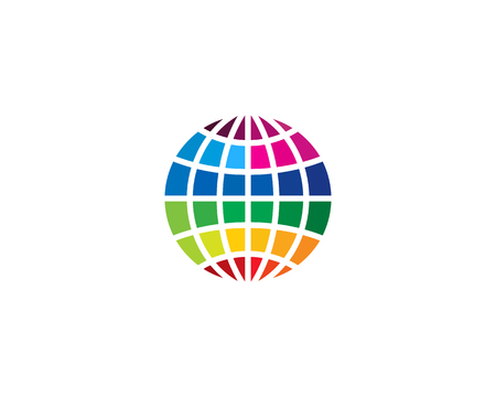 Globe Icon Logo Design Element