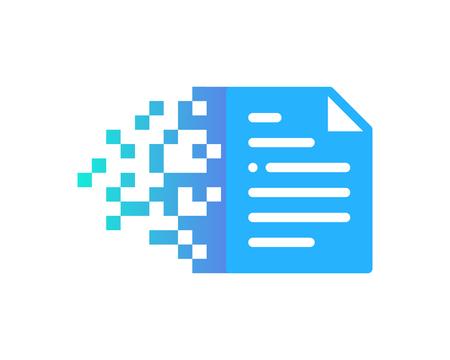 ドキュメント アイコンのロゴのデザイン要素  イラスト・ベクター素材