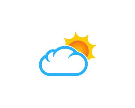 날씨와 시즌 아이콘 디자인 요소 일러스트