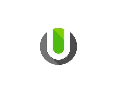 Letter U Icon Logo Design Element Vectores